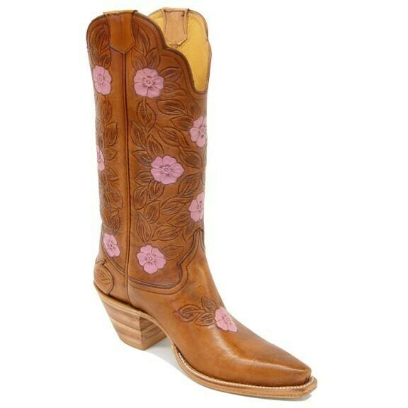 Dahlia Hand-Tooled Cowboy Boots