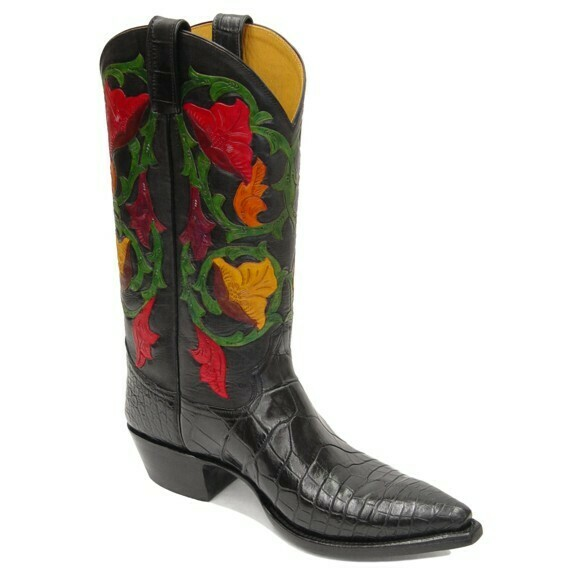 Delilah Nile Alligator Hand-Tooled Cowboy Boots