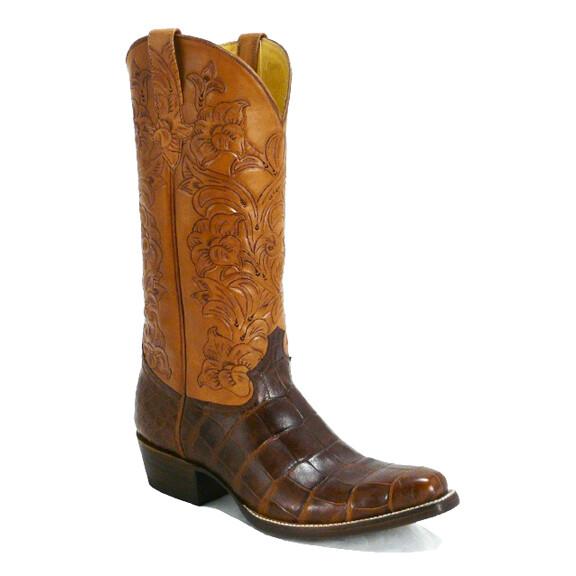 Santiago Banderas Hand-Tooled (15 Colors) Cowboy Boots