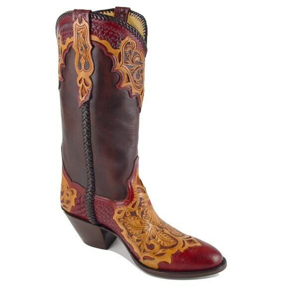 Tristessa Hand-Tooled Cowboy Boots