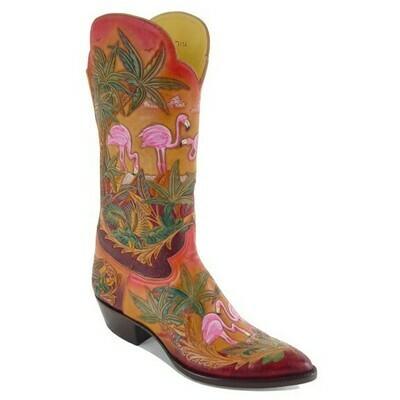Islander Hand-Tooled Cowboy Boots