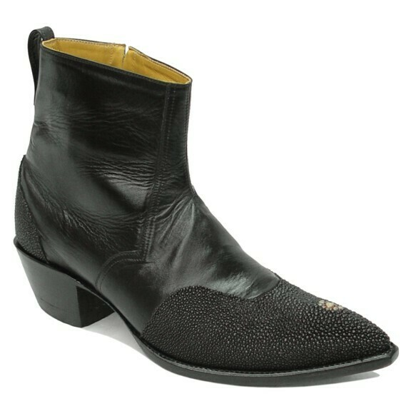 Stingray Wing Tip Ankle Boots