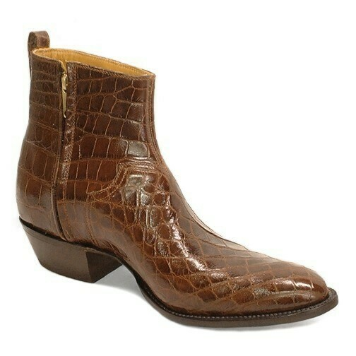 Smooth Nile Crocodile Ankle Boots