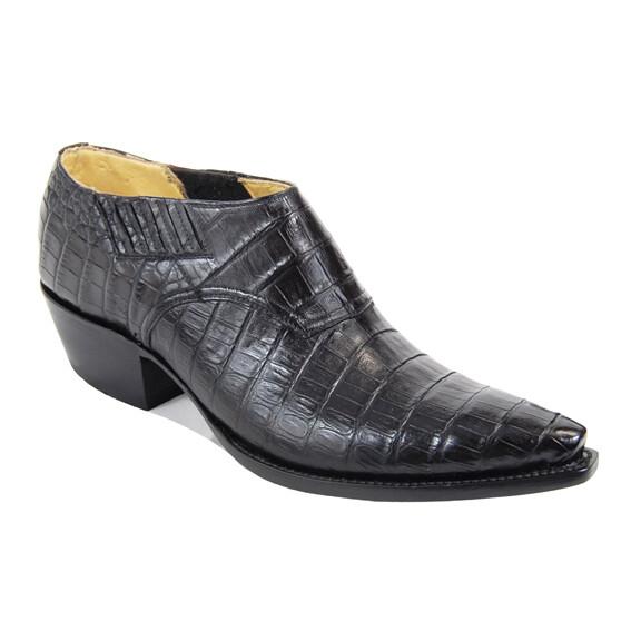 Smooth Caiman Crocodile Shoe Boots