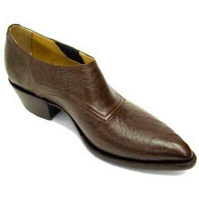 Smooth Ostrich Shoe Boots