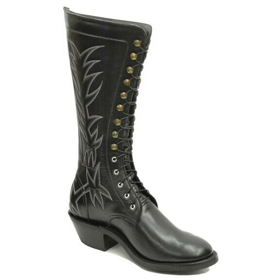 Stitched Lace-Up Packer Boots