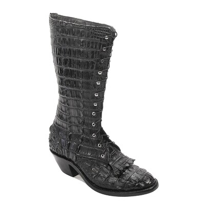 Nile Crocodile Lace-Up Packer Boots