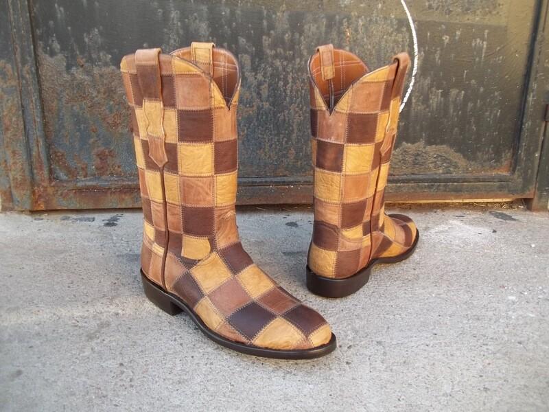 Patchwork Cowboy Boots