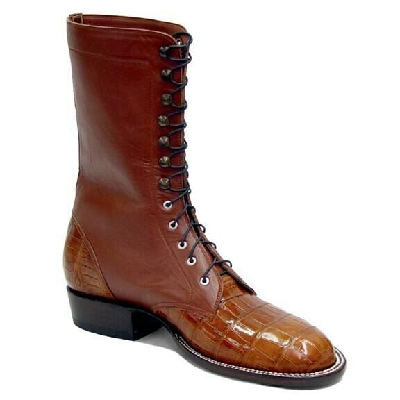 Smooth Nile Crocodile Packer Boots