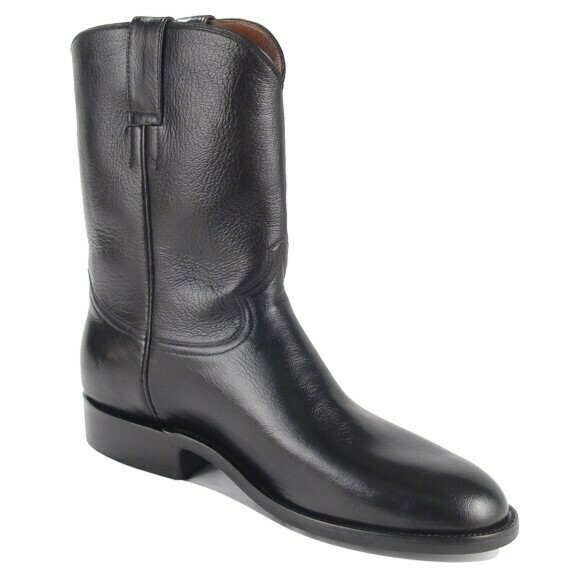 Smooth Cowhide Roper Boots