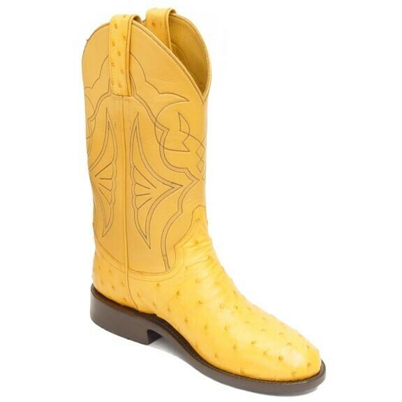 Full Quill Ostrich Roper Boots