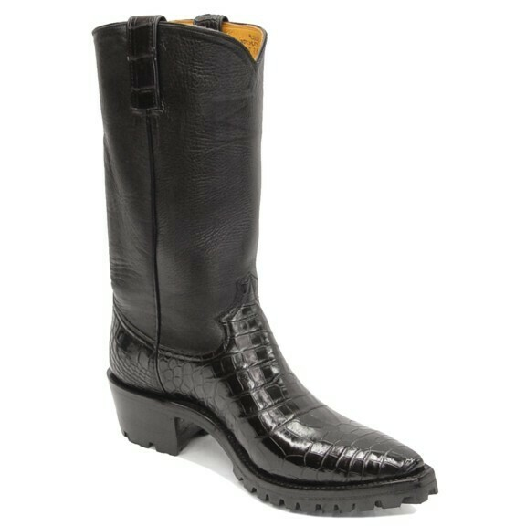 Smooth Nile Crocodile Motorcycle Boots