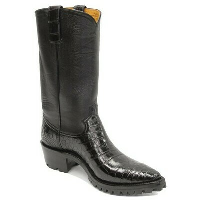 Smooth Nile Crocodile Motorcycle Boots