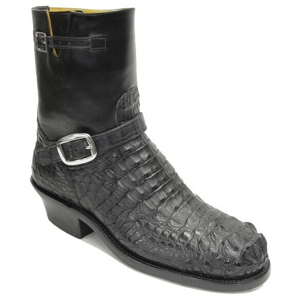 Hornback Caiman Crocodile Engineer Boots