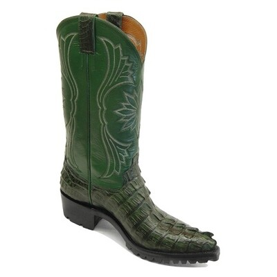 Caiman Crocodile Tail small horn Motorcycle Boots
