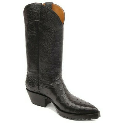 Full Quill Ostrich Motorcycle Boots