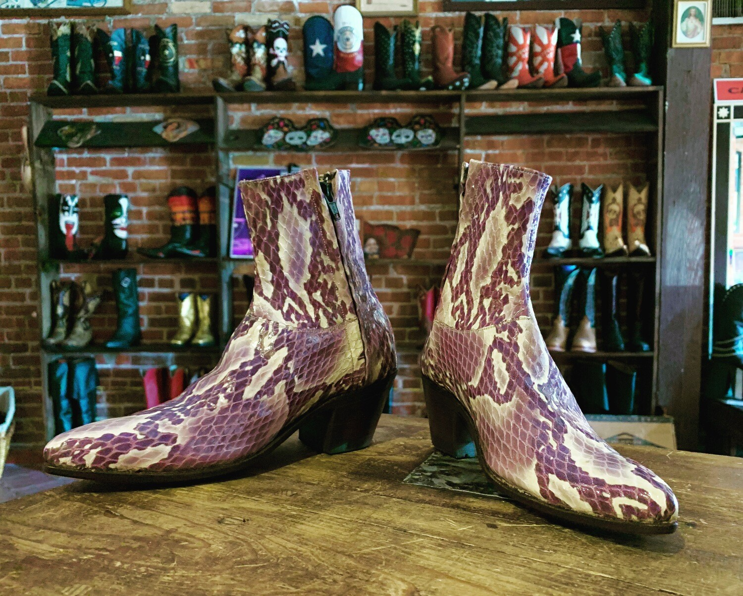 Ophidian Amethyst Ankle Boots