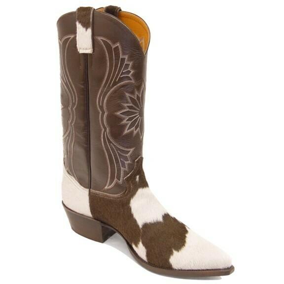 Holstein Hair-On Cowboy Boots