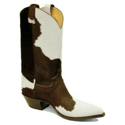 Holstein Hair-On Top & Bottom Cowboy Boots