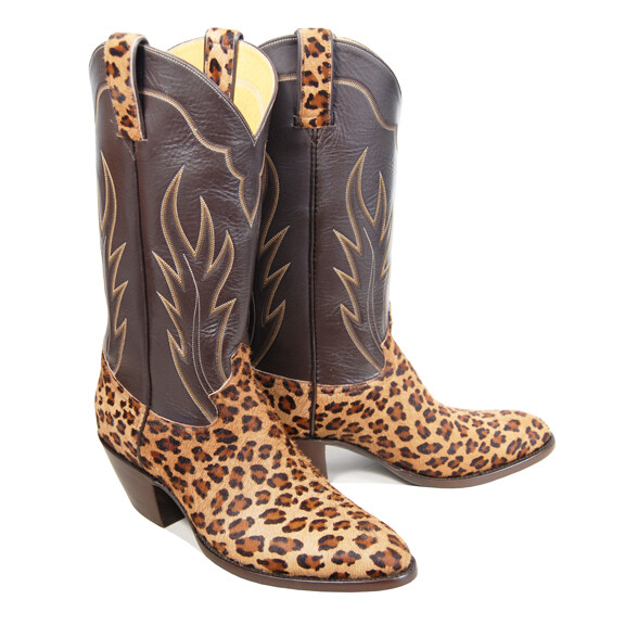 Leopard Hair-On Cowboy Boots