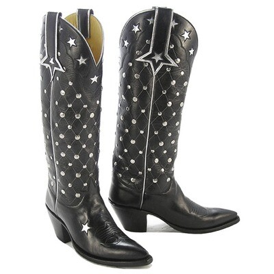 Star Studded Tall Cowboy Boots