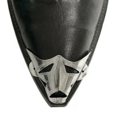 Silver X-Toe Boot Tips Star