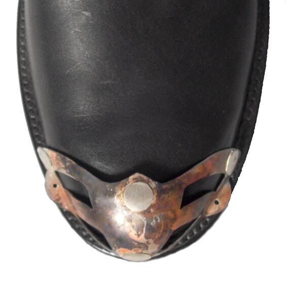 Flamed Silver W-Toe Boot Tips Van Helsing