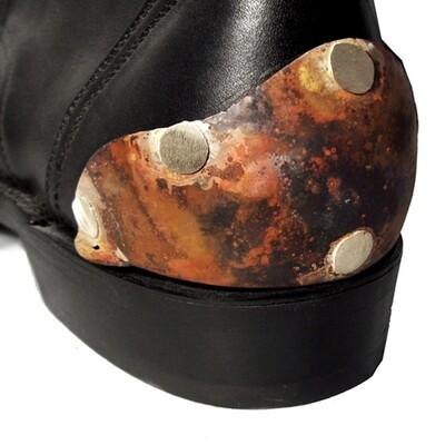 Boot Heel Plates Van Helsing (Flamed Silver)