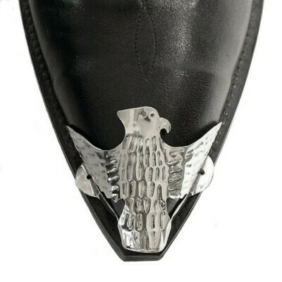 Silver X-Toe Boot Tips Eagle
