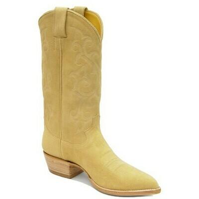 Stitch Suede Cowboy Boots