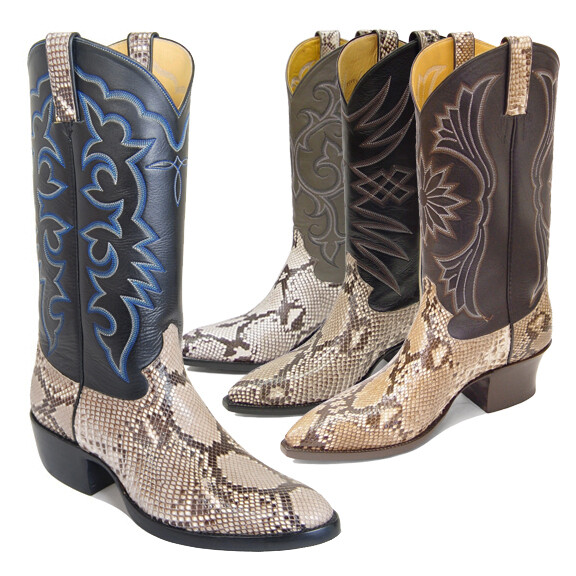 Python Back Cowboy Boots