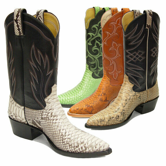 Python Belly Cowboy Boots