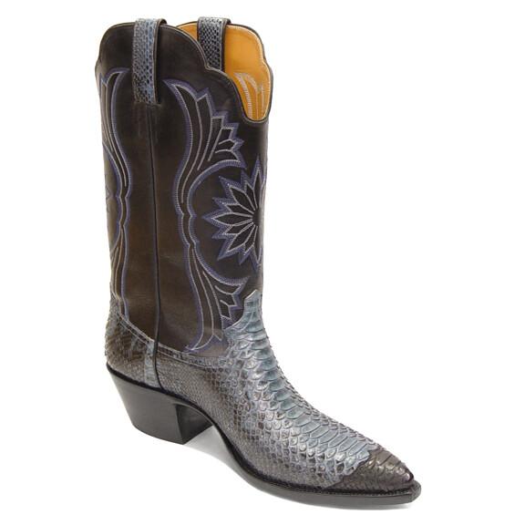 Python Wingtip Cowboy Boots