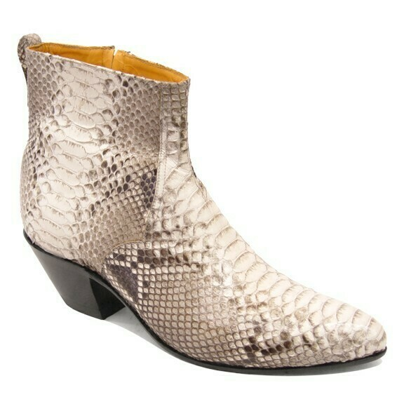 Python Belly Ankle Boots