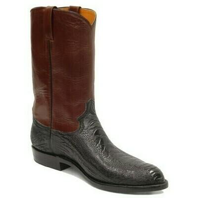 Ostrich Leg Roper Boots