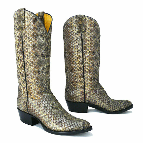 Rattlesnake Top and Bottom Cowboy Boots
