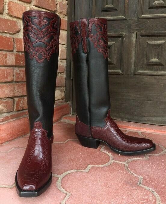 Salbanca Ostrich Cowboy Boots