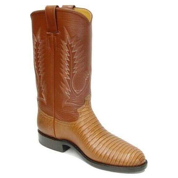 Tejus Lizard Roper Boots