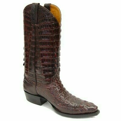 Top & Bottom Nile Hornback Crocodile Cowboy Boots