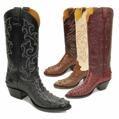 Nile Crocodile Hornback Cowboy Boots