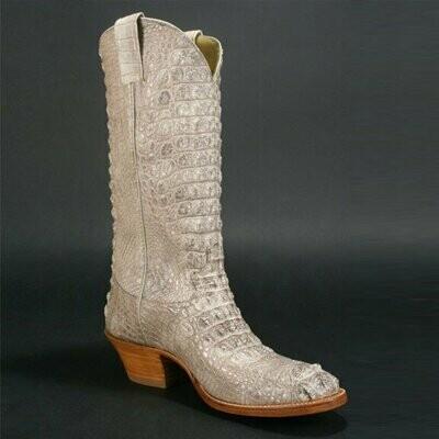Top & Bottom Natural Nile Crocodile Cowboy Boots