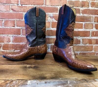 11D Men's Brown Cowboy Boots Closeout