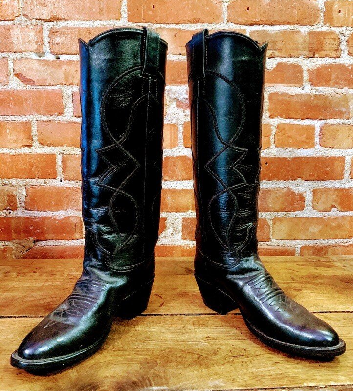 7B Ladie's Black Tall Boots Closeout / pre loved