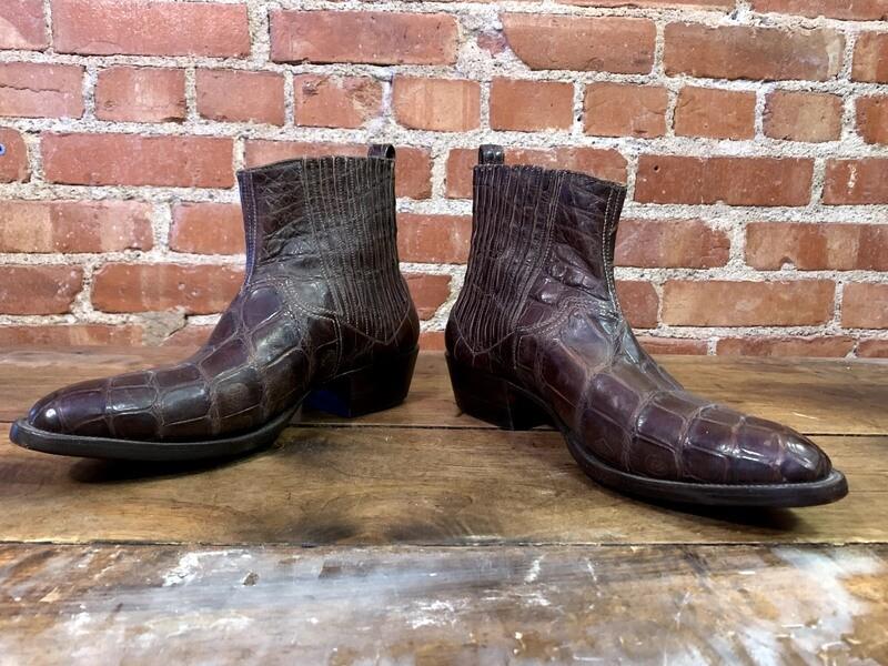 10.5D Men's Alligator Ankle Boots Closeout