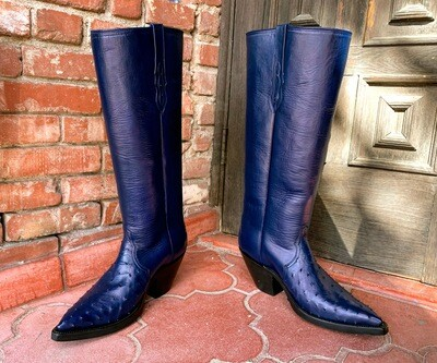 The Rookard Full Quill Ostrich Triad Cowboy Boots