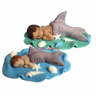 Fondant Shark Baby Shower Cake Topper