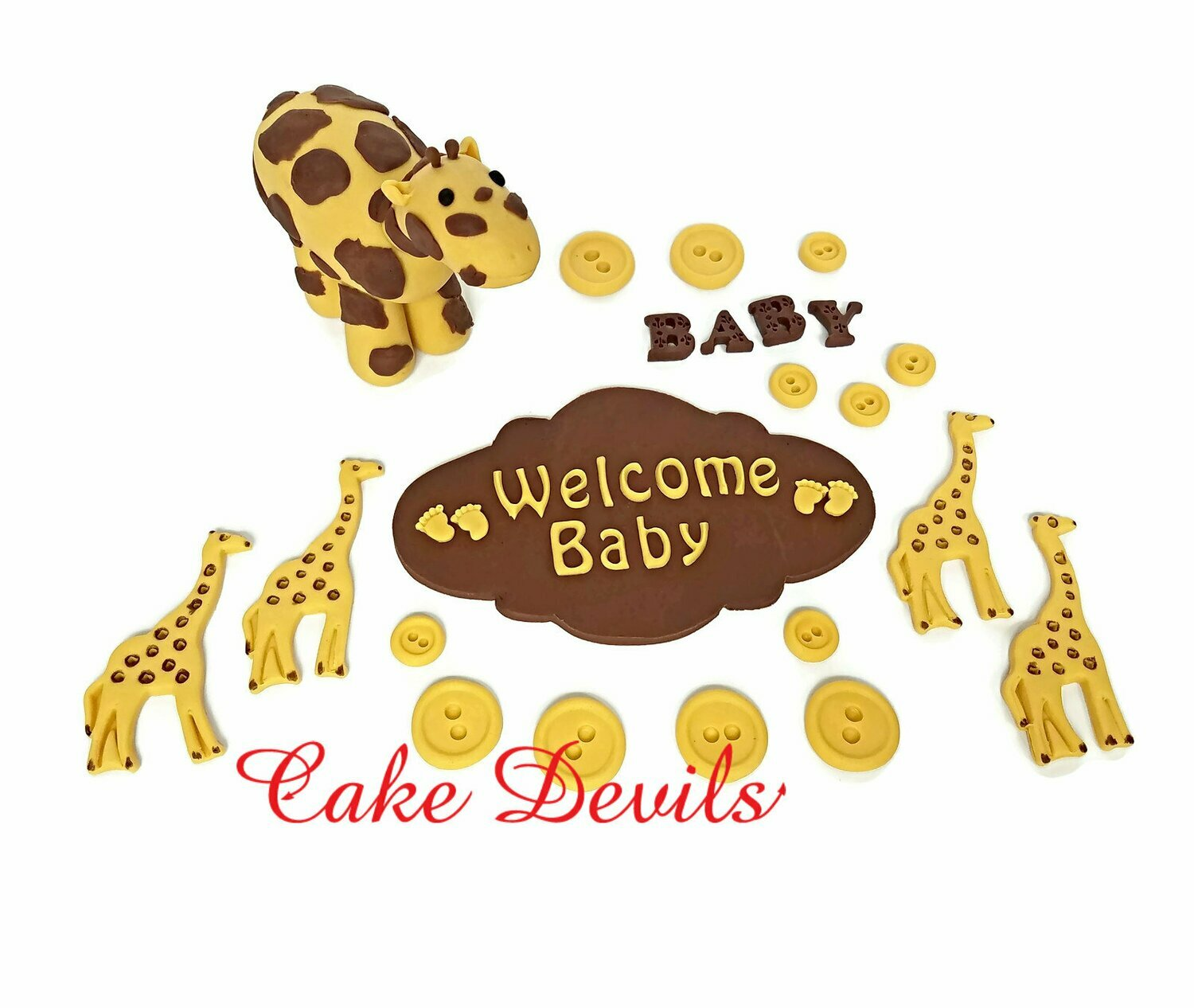 Giraffe Baby Shower Cake Decorations