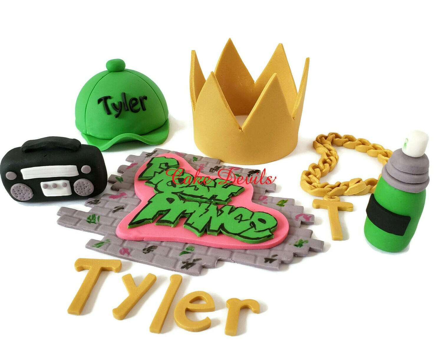 Fresh Prince Fondant Cake Toppers for 90's Hip Hop Cake