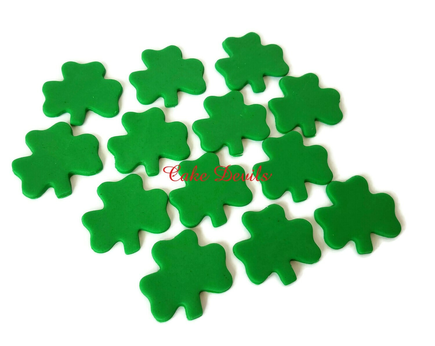 Fondant Clover Shamrock Cupcake Toppers for St Patrick's Day