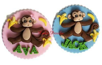 Fondant Monkey Cake Toppers